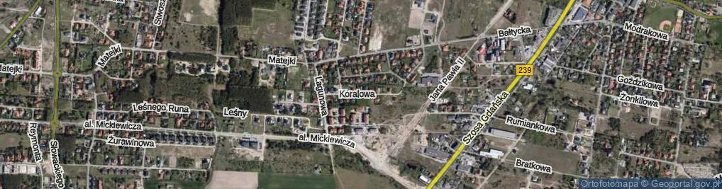 Zdjęcie satelitarne Koralowa