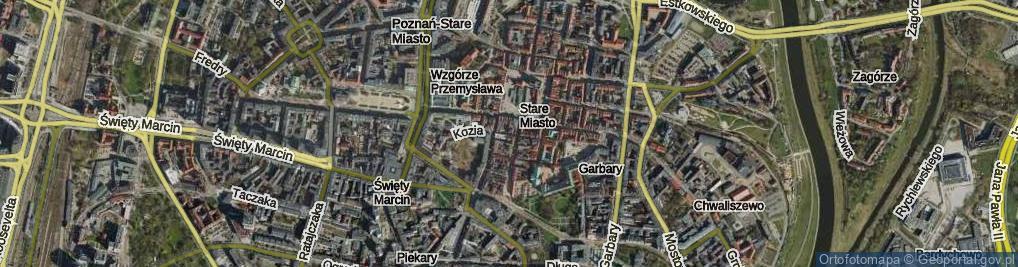 Zdjęcie satelitarne Kozia Ulica ul.