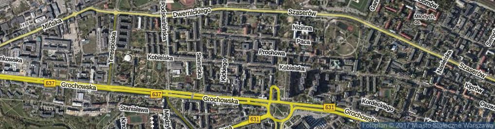 Zdjęcie satelitarne Kobielska ul.