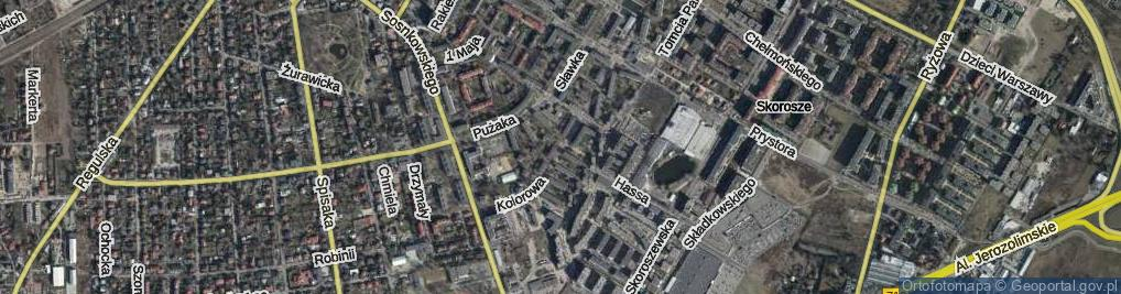 Zdjęcie satelitarne Kolorowa