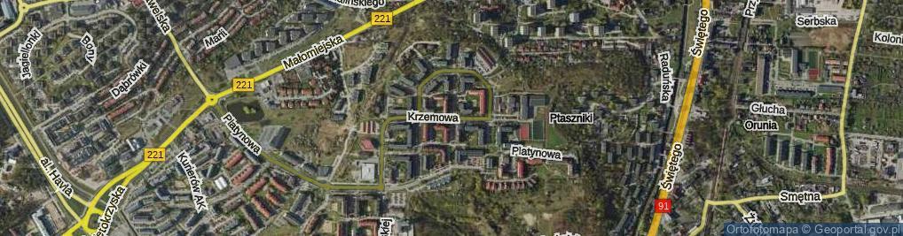 Zdjęcie satelitarne Krzemowa