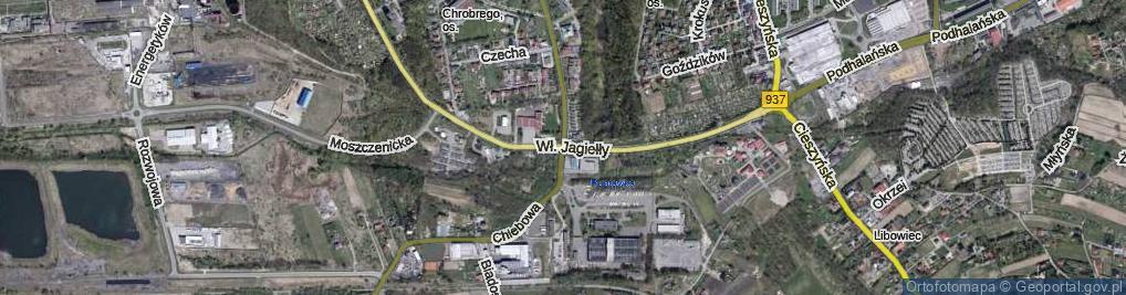 Zdjęcie satelitarne Króla Władysława Jagiełły