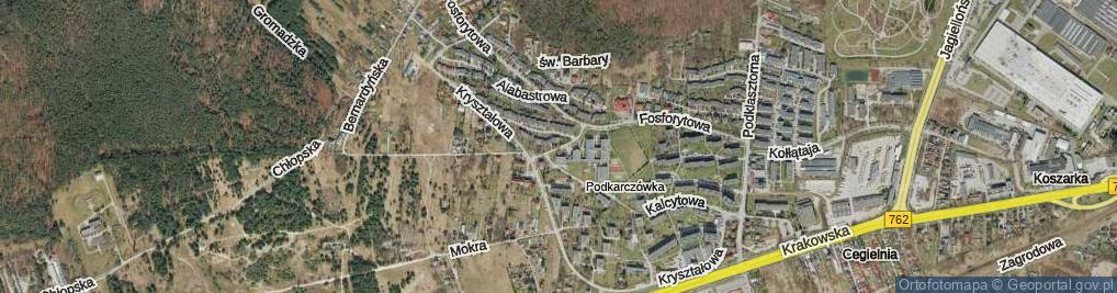 Zdjęcie satelitarne Krzemionkowa