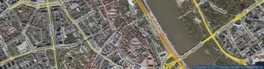Zdjęcie satelitarne Krzywe Koło ul.