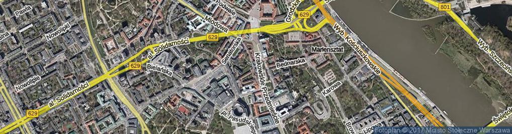 Zdjęcie satelitarne Krakowskie Przedmieście ul.