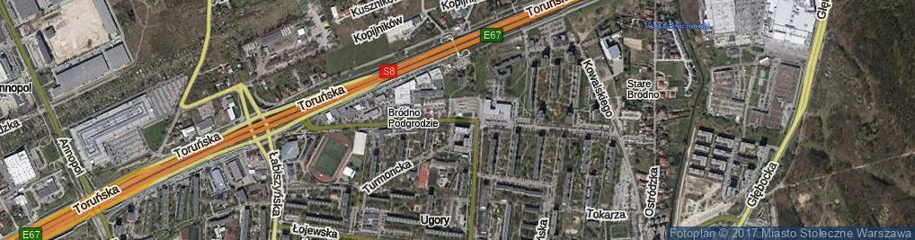 Zdjęcie satelitarne Krasnobrodzka