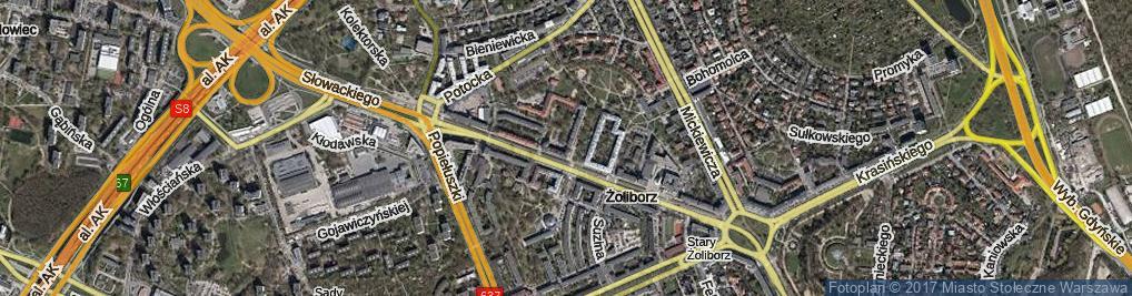 Zdjęcie satelitarne Krechowiecka ul.