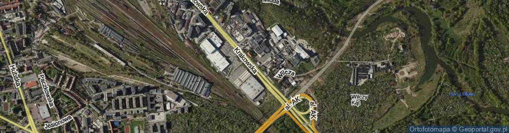 Zdjęcie satelitarne Krakowska