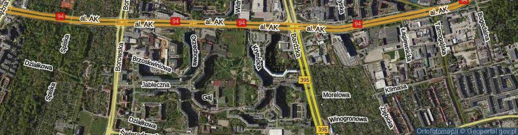 Zdjęcie satelitarne Krynicka
