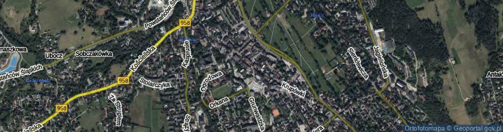 Zdjęcie satelitarne Krupówki