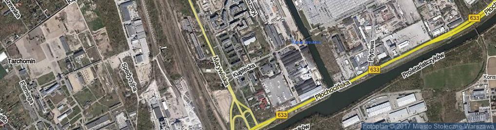 Zdjęcie satelitarne Kupiecka