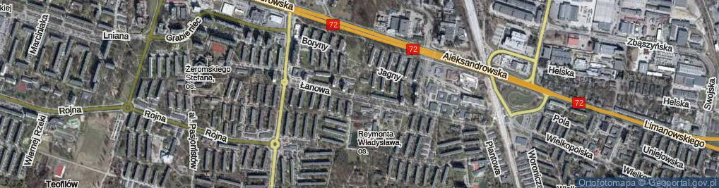 Zdjęcie satelitarne Łanowa ul.