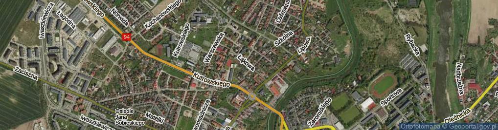 Zdjęcie satelitarne Łąkowa