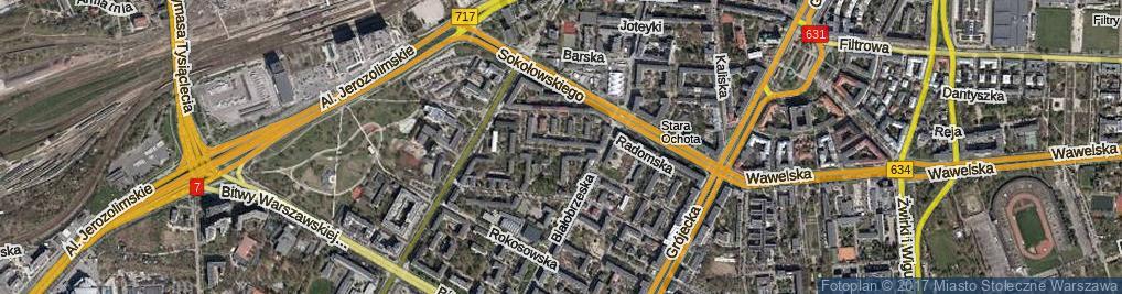 Zdjęcie satelitarne Lelechowska