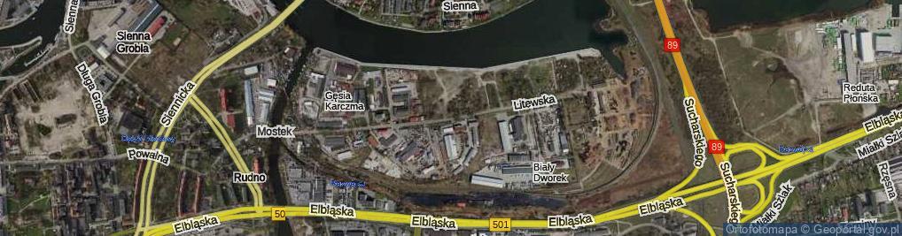 Zdjęcie satelitarne Litewska