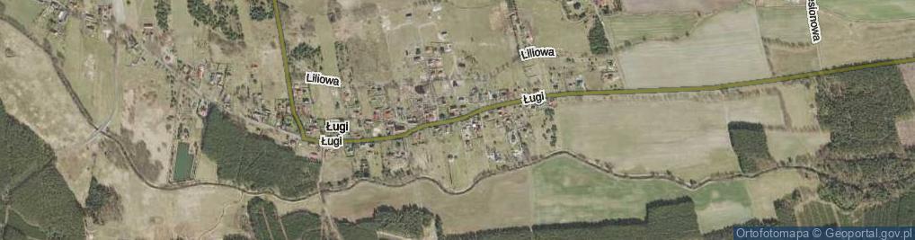 Zdjęcie satelitarne Ługi