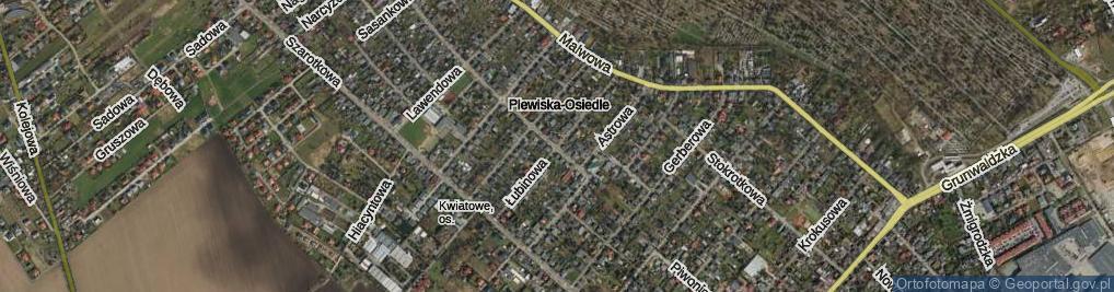 Zdjęcie satelitarne Łubinowa