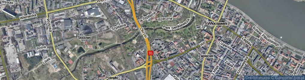 Zdjęcie satelitarne Lunewil
