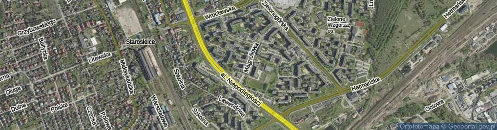 Zdjęcie satelitarne Magnoliowa ul.