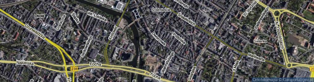 Zdjęcie satelitarne Marcinkowskiego Karola ul.