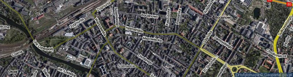 Zdjęcie satelitarne Mazowiecka
