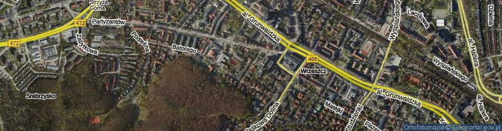 Zdjęcie satelitarne Matki Polki ul.
