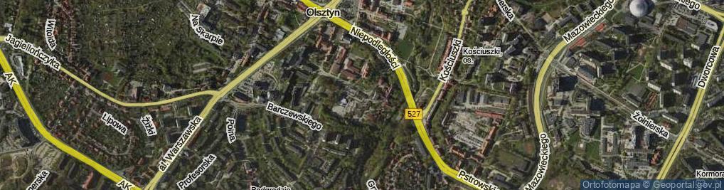 Zdjęcie satelitarne Mariańska ul.