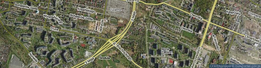 Zdjęcie satelitarne Małe Zagórze ul.