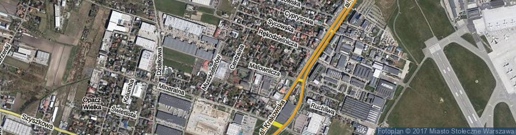 Zdjęcie satelitarne Malownicza ul.