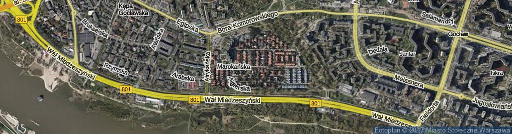 Zdjęcie satelitarne Marokańska ul.
