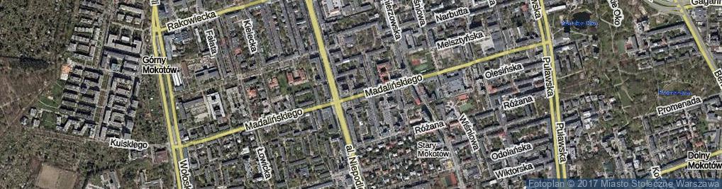 Zdjęcie satelitarne Madalińskiego Antoniego Józefa, gen.