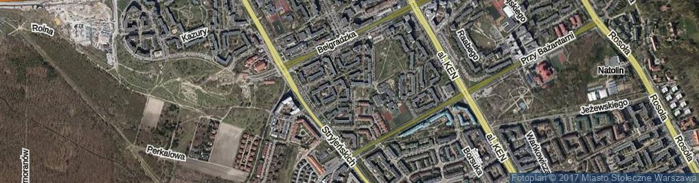 Zdjęcie satelitarne Małej Łąki