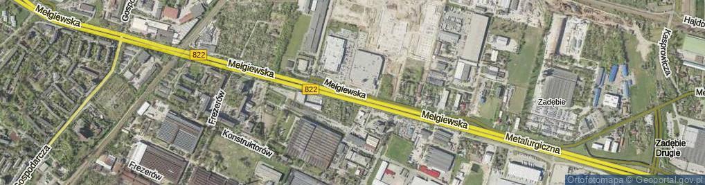 Zdjęcie satelitarne Mełgiewska