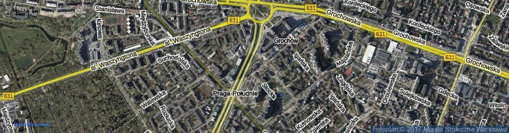 Zdjęcie satelitarne Męcińska ul.