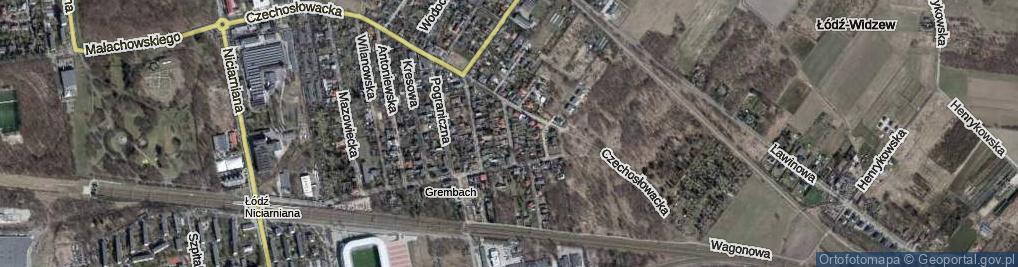 Zdjęcie satelitarne Miechowska ul.