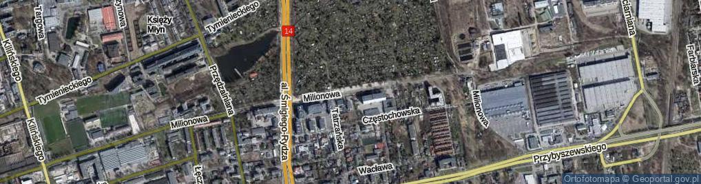 Zdjęcie satelitarne Milionowa