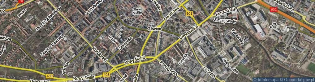 Zdjęcie satelitarne Mikołowska ul.