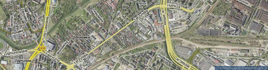 Zdjęcie satelitarne Mieszczańska
