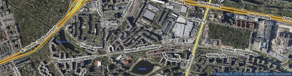 Zdjęcie satelitarne Międzyborska ul.