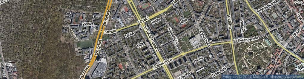 Zdjęcie satelitarne Miła