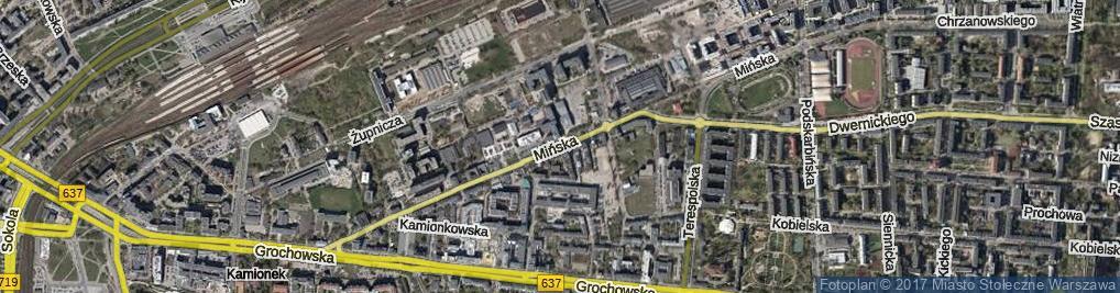 Zdjęcie satelitarne Mińska