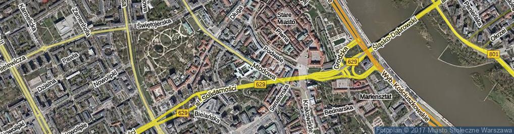 Zdjęcie satelitarne Miodowa