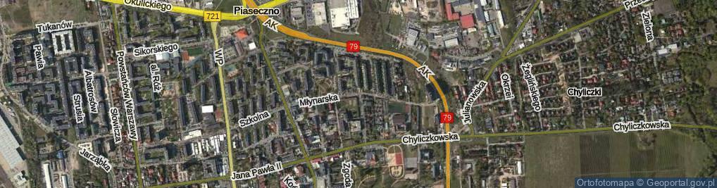 Zdjęcie satelitarne Młynarska ul.