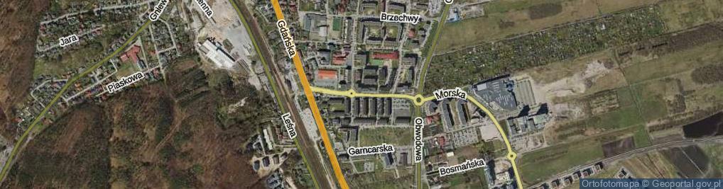Zdjęcie satelitarne Młyńska