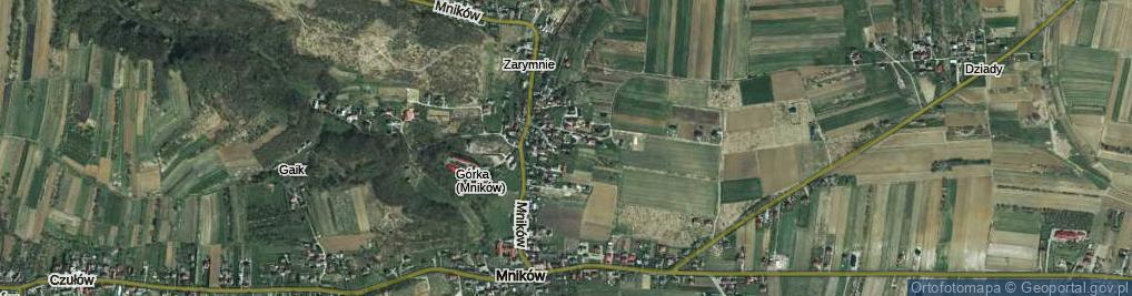 Zdjęcie satelitarne Mników ul.