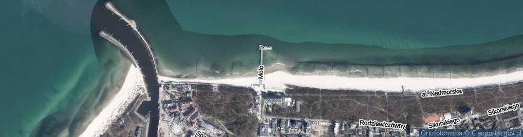 Zdjęcie satelitarne Molo