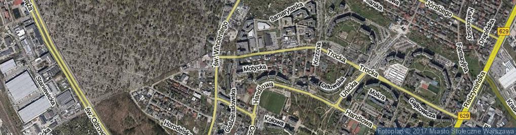 Zdjęcie satelitarne Motycka