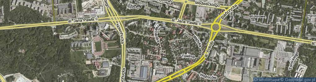 Zdjęcie satelitarne Narciarska ul.