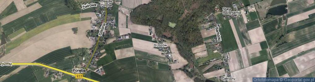 Zdjęcie satelitarne Narutowicza Gabriela