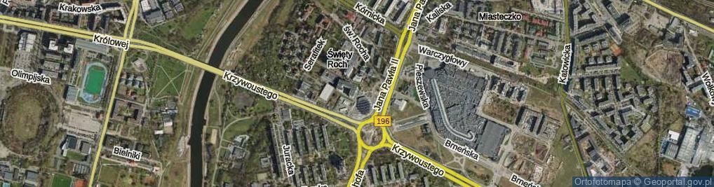 Zdjęcie satelitarne Na Miasteczku